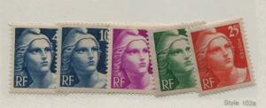 FRANCE  548-52   MNH