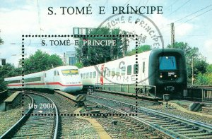 ST THOMAS & PRINCE ISLANDS 1285  MH SS SCV $5.00 BIN $2.50  TRAINS