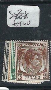 MALAYA PENANG   (P2206B)   KGVI 1C-4C    SG  3-6  MNH