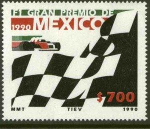 MEXICO 1652, Formula 1 Grand Prix of 1990. F-VF MINT, NH. VF.
