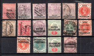 Bechuanaland QV fine used collection WS16302