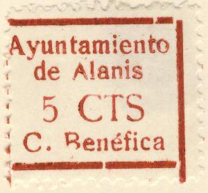 ESPAGNE / SPAIN / ESPAÑA 1937 ALANIS (Sevilla) 5c Sofima #3 (Emisiones Locales)