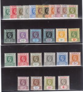 Gambia #70 - #86 #87 - #96 (SG #86 - #102 #108 - #117) Very Fine Mint Fresh Sets