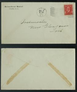 Belvedere Hotel Truro NS corner card GeoV 197 1935