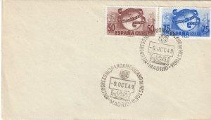 Spain 769-70 FDC 75th Anniversary of UPU