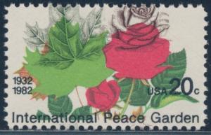 #2014 VAR INTERNATIONAL PEACE GARDEN WITH MAJOR COLOR SHIFT ERROR BT2435
