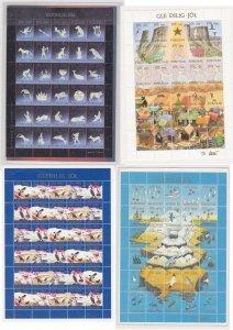Faroe Islands christmas seals – 4 sheets