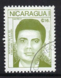 NICARAGUA SC# 1735  *USED*  16c 1988  MARTIRES   SEE SCAN