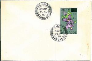 POSTAL HISTORY -  BARBADOS : COVER 1980  - Saint JOHN
