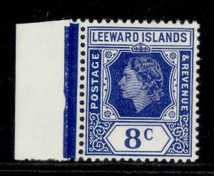 LEEWARD ISLANDS QEII SG133, 8c ultramarine, NH MINT.