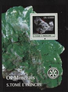 St Thomas 2004 Minerals S/S set NH