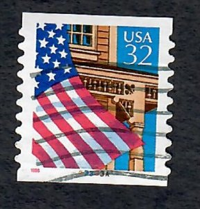US #2915A Flag over Porch Used PNC Single plate #33333A