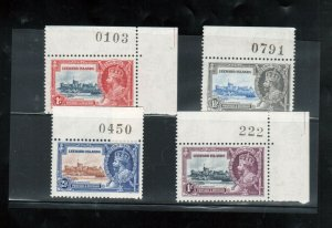 Leeward Islands #96 - #99 Very Fine Never Hinged Set With Plate Numbers