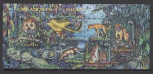 AUSTRALIA SGMS1719 1997 NOCTURNAL ANIMALS MNH