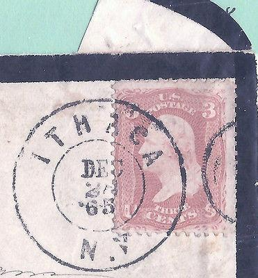 Civil War Era US Stamp [on Piece] w/a Tying   'ITHICA, N....