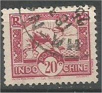 INDO-CHINA, 1931, used 20c Planting Rice. Scott 162
