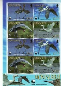 Montserrat - Cranes - 8 Stamp  Sheet  13B-002