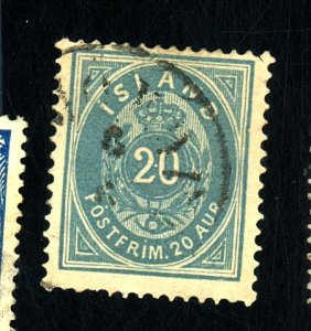 ICELAND #17 USED F-VF HR Cat $68
