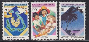 Cocos Islands # 169-171, Christmas, NH, 1/2 Cat.