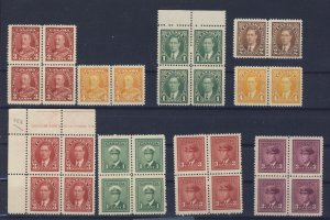 30x Canada Stamps 6x George V, 26x George VI Most VF Guide Value = $43.00