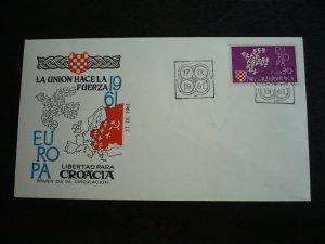 Europa 1961 - Croatian Cinderella First Day Cover