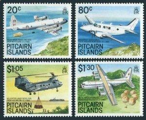 Pitcairn 323-326,MNH.Michel 342-345. 2nd mail drop on Pitcairn,1989.Aircraft.