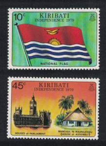 Kiribati Independence 2v SG#84-85 SC#325-326