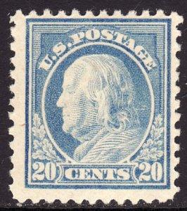 1917-19 U.S Benjamin Franklin 20¢ perf 11 unwtmd MNH Sc# 515 CV $85.00