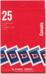 Canada - 45c Flag Complete Booklet mint #BK178d Perf. 14.5 Leigh Mardon VF-NH