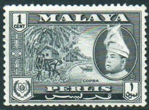 Perlis 1957 1c Copra MH