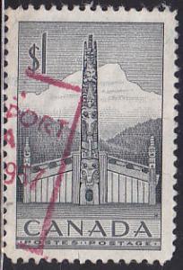 Canada 321 Hinged Used 1953 Pacific Coast Totem Pole