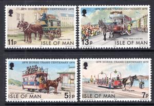 Isle of Man 82-85 Horse Trams MNH VF