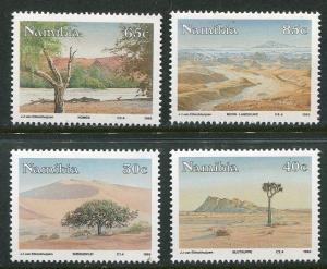 NAMIBIA 1993 NAMIB DESERT LANDSCAPES - TREES STAMPS -  MINT COMPLETE SET OF 4!
