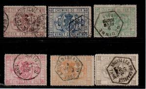 Belgium Scott Q1-6 Used (Catalog Value $116.75)