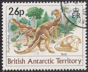 British Antarctic Territory 1991 used Sc #173 26p Hypsilophodont dinosaur