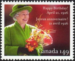 CANADA 2006,QUEEN ELIZABETH II 80th BIRTHDAY MNH Single #2150a