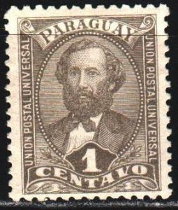 Paraguay. 1892. 27 of the series. Rivarola, President of Paraguay. MLH.