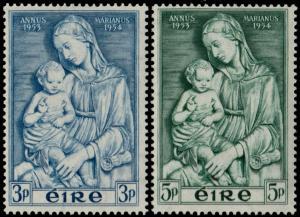 ✔️ IRELAND 1954 - MARIAN YEAR - SC. 151/152 MNH OG [IR0120]