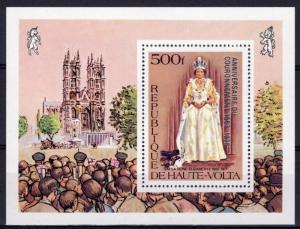 UPPER VOLTA 1978 Sc#480 Coronation 25th.Anniv.ovpt.Silver S/S Perf.MNH