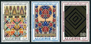 Algeria 491-493,MNH.Michel 601-603. Native Embroideries 1973.