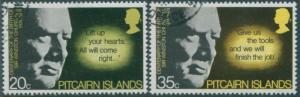 Pitcairn Islands 1974 SG155-156 Churchill birth set FU