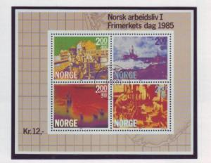 Norway Sc B68 1985 Stamp Day stamp sheet used