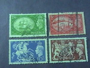 GREAT BRITAIN # 286-289-USED-----COMPLETE SET------1951