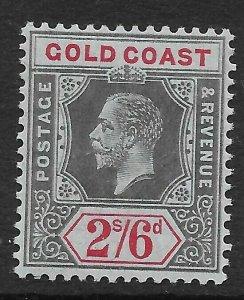 GOLD COAST SG81 1913 2/6 BLACK & RED ON BLUE MTD MINT