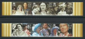 Isle of Man MUH SG 875 - 880 2 se-tenant strips of 3  mar...