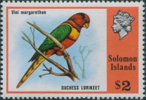 Solomon Islands 1976 SG319 $2 Duchess Lorikeet MNH