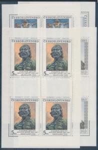 Czechoslovakia stamp National Gallery minisheets MNH 1990 Mi 3069-3072 WS133774