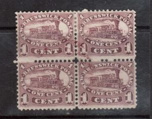 New Brunswick #6 Used Block With Light Red Cancel