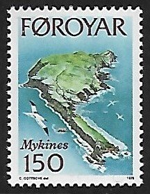 Faroe Islands # 34 - Mykines Aerial Vieuw - MNH