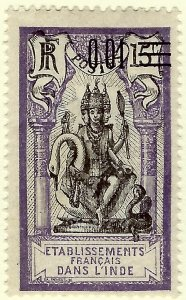French India SC #50 F-VF Mint hr.....These stamps are tough to snag!